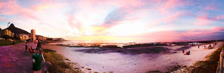 Sea Point Promenade at sunset.