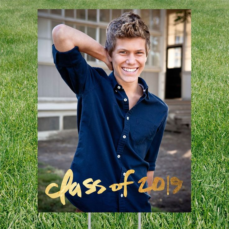 Faux Foil Class Vertical Yard Sign | Graduation Party