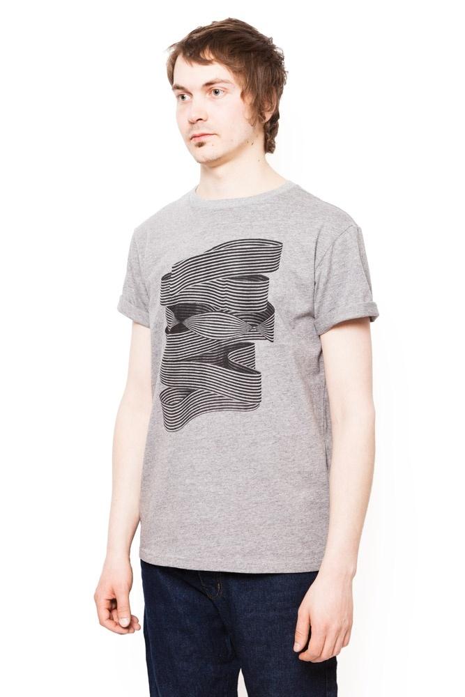 Mens' organic cotton T-shirt // Brody, with illustration by Santtu Mustonen