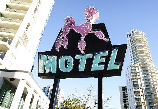 The Pink Poodle Motel. Part of the Gold Coast's history.