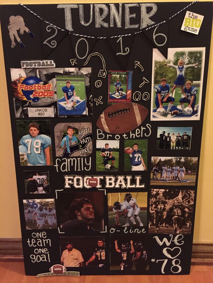 Football Senior night poster.