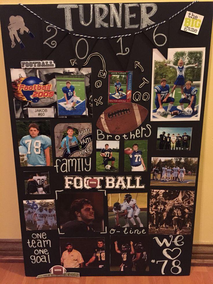 Football Senior night poster.