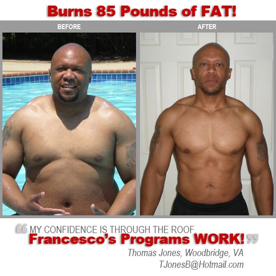 Thomas Jones burns 85 lbs of fat and gained lean muscle ...