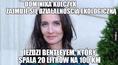 Eko. #kwejk #humor #heheszki #śmieszki #żarty #żarciki #lol #haha #hehe #śmieszne #śmiesznie #obraz #obrazek #zdjęcia #zdjęcie #eko #ekologia #kulczyk #kobieta #auto #samochód #miłość #benzyna #przypał #hipokryzja #przypał #smutna #sprawa #laska #logika #słabo