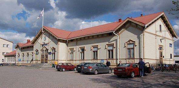 Kuva asemalta Oulu Finland