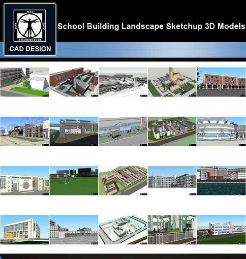Sketchup 3D Models】20 Types Of School Sketchup 3D Models V