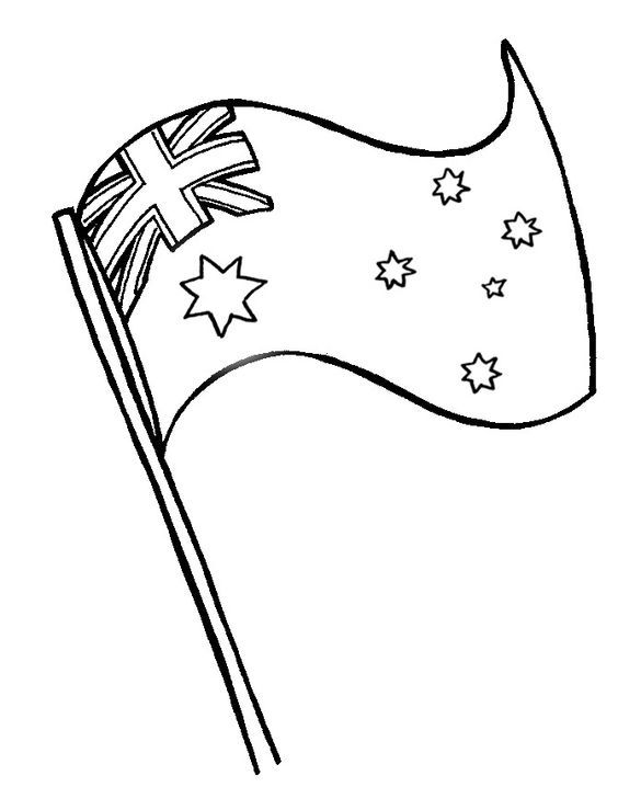 Australia Flag Coloring Page