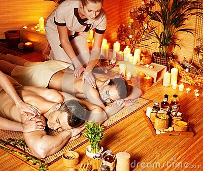 Man and woman relaxing in spa. by Poznyakov, via Dreamstime