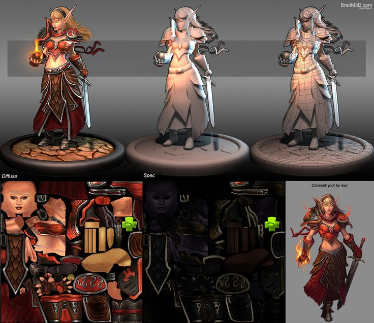 Show your hand painted stuff, pls! - Page 2 - Polycount Forum