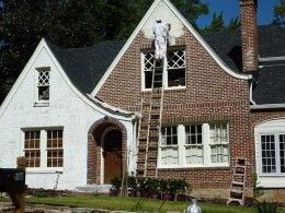 How To Paint the Exterior of a Brick House  Covering up the brick for a new look.