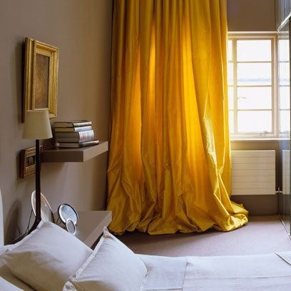 Inspired Whims: My Yellow Silk Curtain Addiction