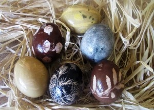 Eggs dyed with herbs...from Herbology