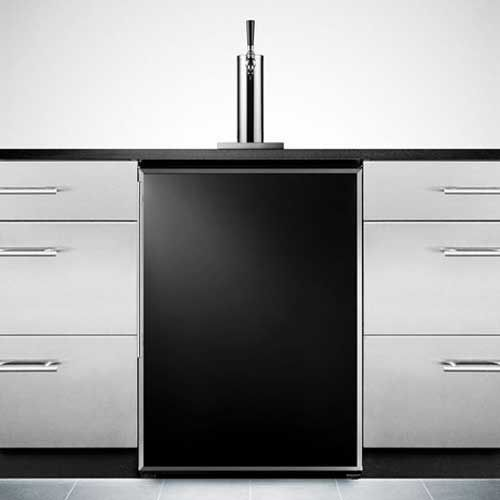 This Built In Black Door Kegerator Is Perfect For Installation In Wet Bars  Or Other