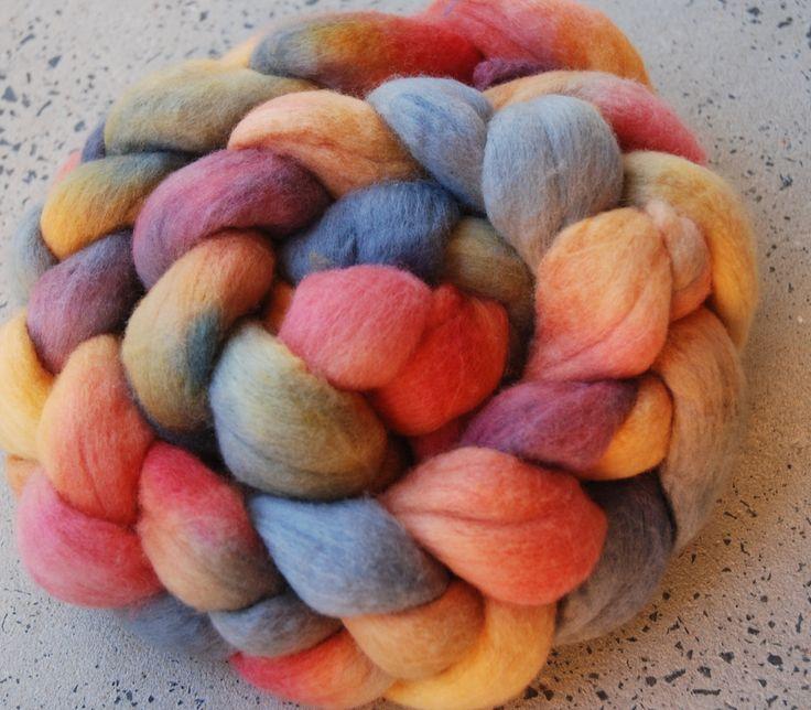 Hand dyed fine merino combed top by RidgetopFibreStudio on Etsy