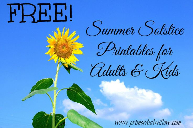 Free Summer Solstice Printables for Adults and Kids