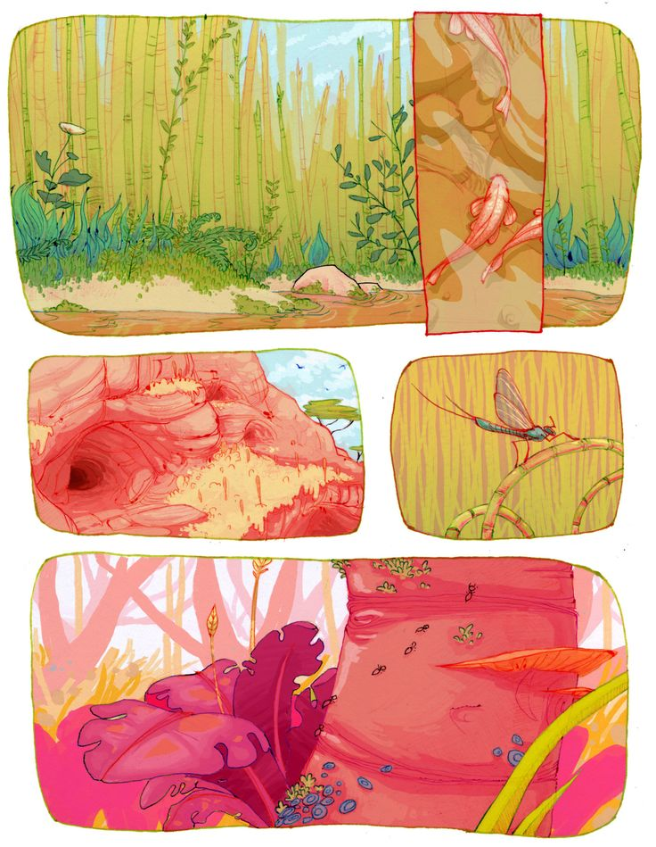 Nature Comic - Colorful Graphic Novel Page.
