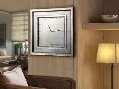 Reloj Cuadrado con Lunas de Espejo : Modelo LLUVIA