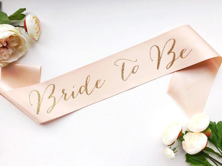 Bride to Be Sash - Bachelorette Sash - Bridal Shower Bachelorette Party Accessory - Satin Bride Sash - Bride Gift - Bride Sash by ShadesOfPinkPaperBtq on Etsy https://www.etsy.com/listing/265757427/bride-to-be-sash-bachelorette-sash
