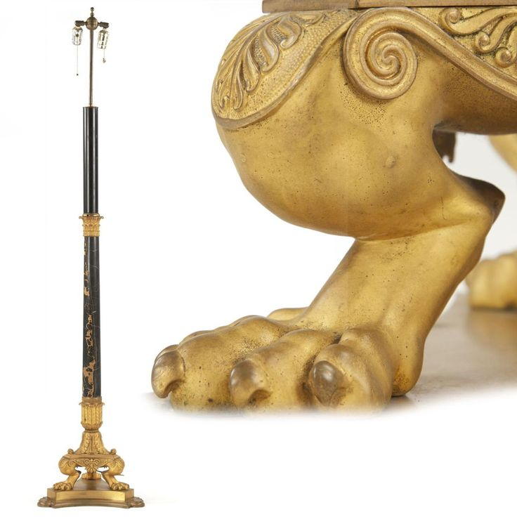 French Empire Style Gilt Bronze Torchiere Antique Floor Lamp c. 1900 by SillaFineAntiques on Etsy https://www.etsy.com/listing/488290194/french-empire-style-gilt-bronze