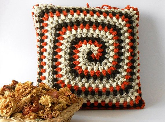 crochet pillow cover merino wool crocheted cushion by cosediisa