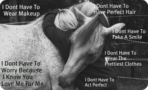 Does your horse love you for you?