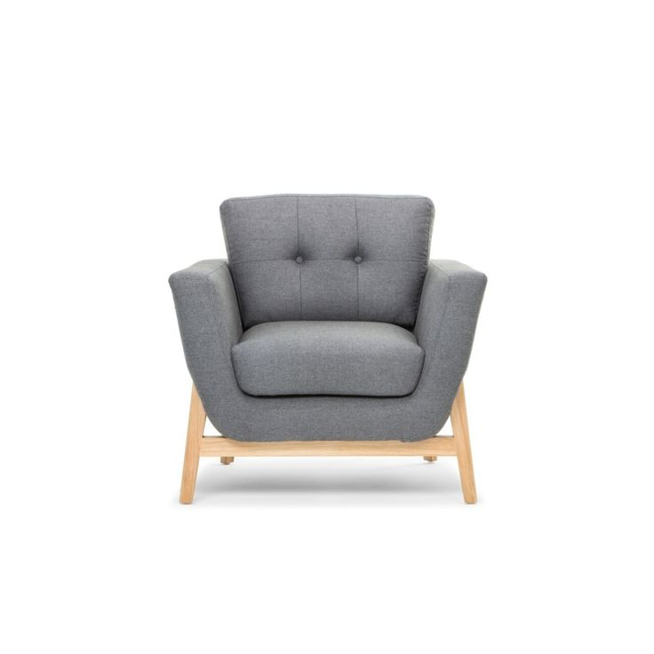 Helgrim Fabric Armchair - Charcoal Grey