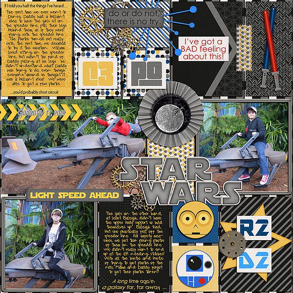 Speeder Bike - Disney - Scrapbook.com
