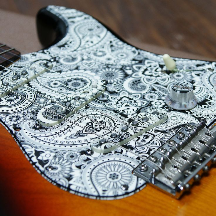 how to draw on pickguard