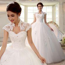 2016 doppio-spalla sottile fessura borsa neckline della cinghia del merletto sposato sposa abiti da sposa(China (Mainland))