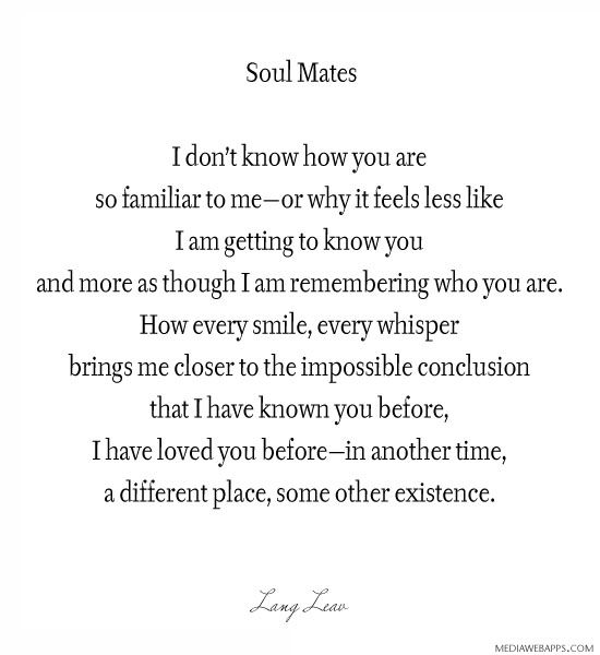 Soulmate Quotes: 17 Best Soul Mate Quotes On Pinterest
