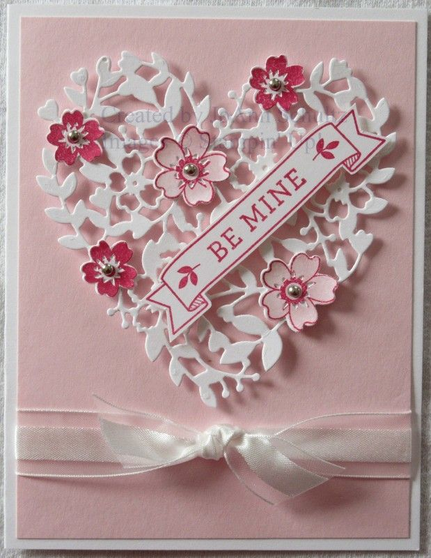 pretty pink valentine by jreks cards and paper crafts at splitcoaststampers - Valentines Day Greetings Images
