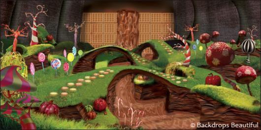 Backdrops: Wonka Chocolate Factory | Willy Wonka Decor ...