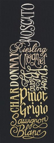 White Wine | Urban Threads: Unique and Awesome Embroidery Designs