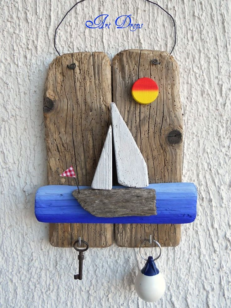 Art Drops driftwood key holder for beach hut , shed outdoor room