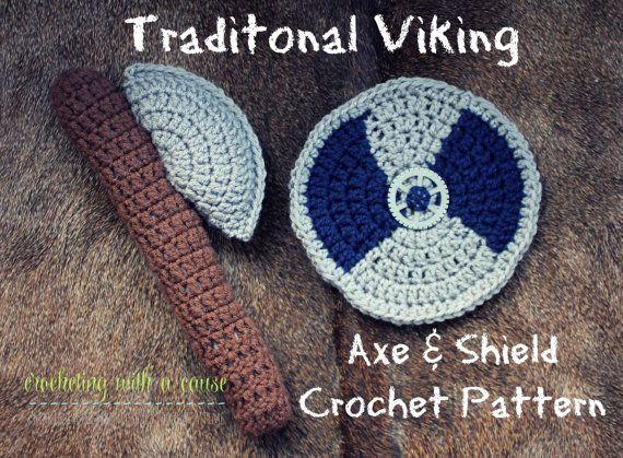 Traditional Viking Axe & Shield Crochet Pattern https ...