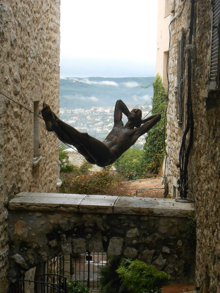 Suspended sculpture in St. Paul de Vence, France Nice week-end to all :))
