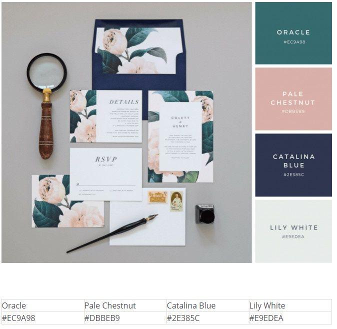 25 цветовых схем для свадебных приглашений / Полезное / FREELANCE.TODAY