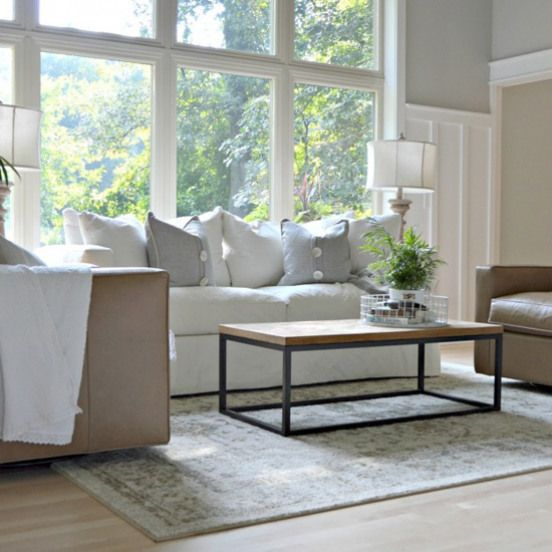Simple Clean Living Room By Removing A Large Fireplace Lighting