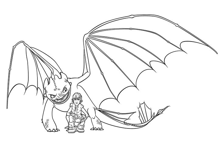 hiccup and night fury coloring pages for kids  printable