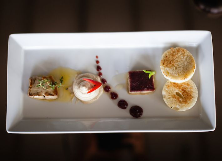 A well deserved delicacy to start off your weekend with - Trio of Foie Gras. A selection of creamy foie gras and truffle mousse, homemade pâté de foie gras topped with cranberry jelly & pan seared foie gras. For reservations, email: reservation@jemmebali.com