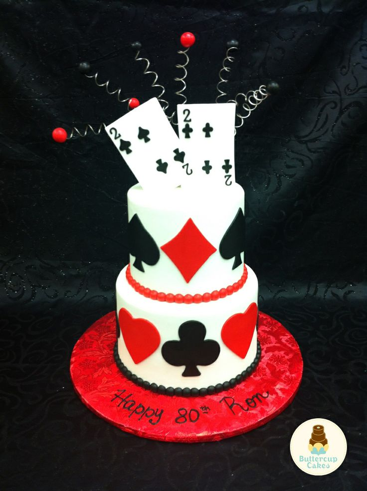 Birthday Cake Images Card : Playing Card Birthday Cake Birthday Cakes Pinterest ...