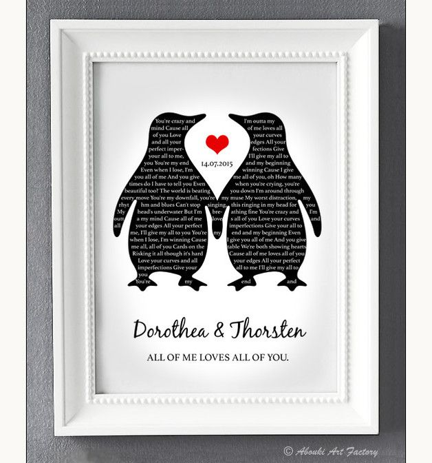 "Romantischer Druck für die Hochzeit, ""Euer Song"" als Poster / romantic wedding gift, your song as artprint by Abouki Art Factory via DaWanda.com"