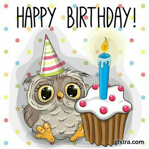 Owl Birthday Cupcake