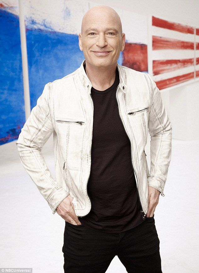 Stylish: Howie Mandel looked casually cool in an all-black outfit which was spruced up by a cream-coloured jacket
