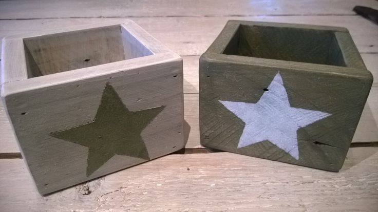 pallet wood star boxes