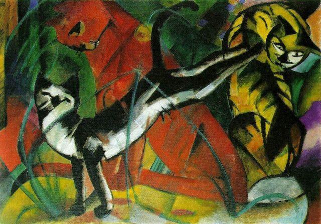 Franz Marc, Cats, 1913