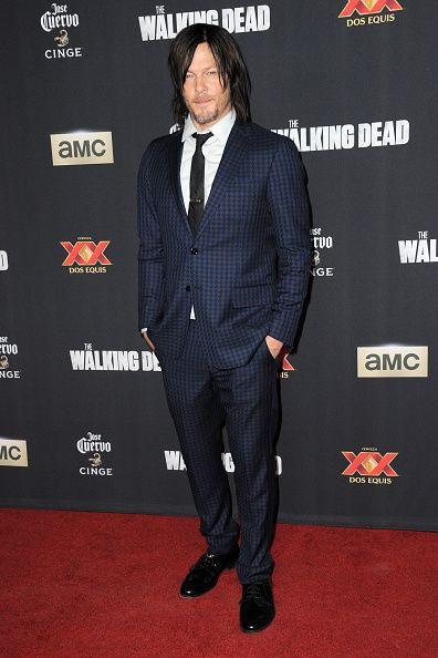 Actor Norman Reedus arrives for the Season 5 Premiere Of 'The Walking Dead' held at AMC Universal City Walk on October 2 2014 in Universal City...