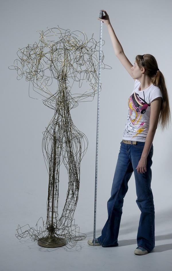 57 best Wire Sculpture images on Pinterest | Wire sculptures ...
