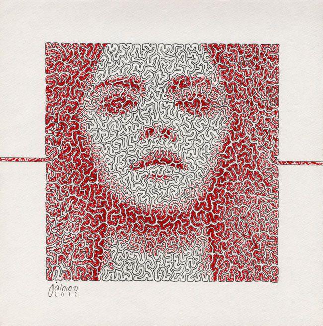 15x15cm | Rapid Pen & Ink on Cardboard | 2013 By Mostafa Akbari © ▌www.mostafaakbari.com