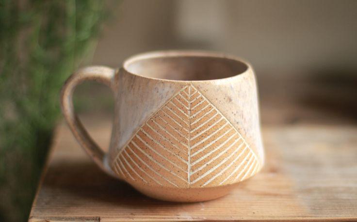 ceramic mug, wheel thrown pottery mugs, minimalist, stoneware mugs, coffee mug, teacup, pottery mug, speckled by StoneHavenPottery on Etsy https://www.etsy.com/listing/472075274/ceramic-mug-wheel-thrown-pottery-mugs